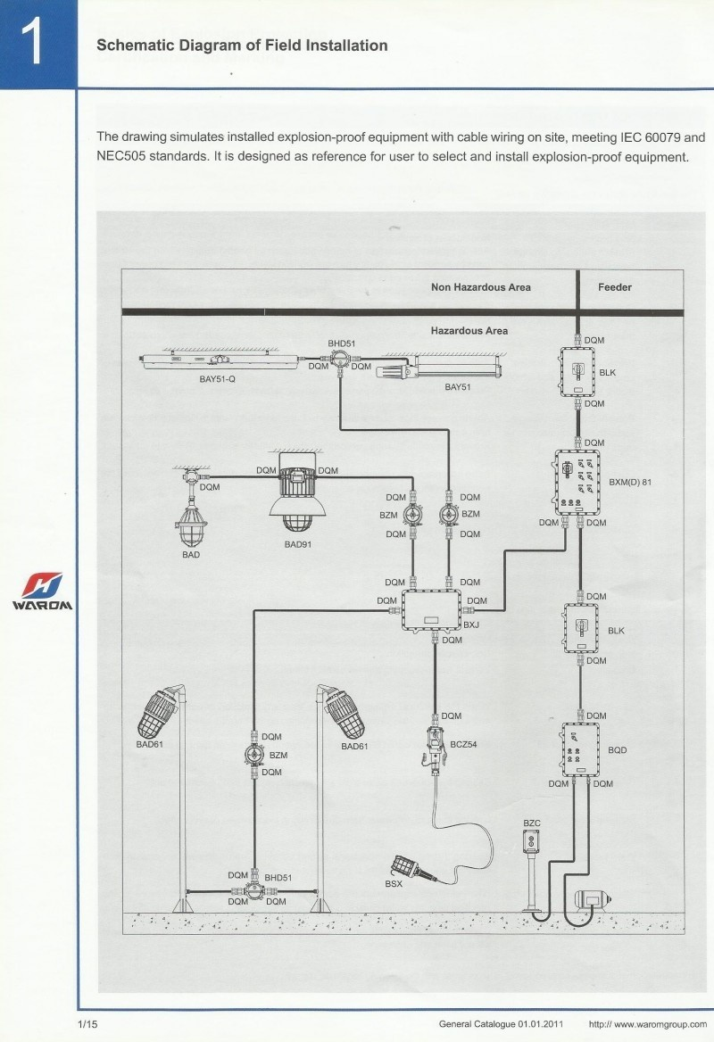 EXPLOSION PROOF, Schematic Diagram Of Field Installation