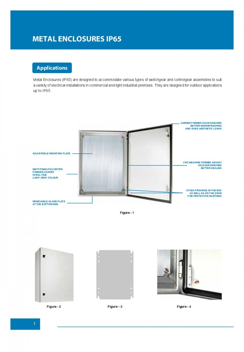 ACCESSORIES PANEL & BOX PANEL, METAL ENCLOSURES IP65 ALFANAR, Metal Enclosures IP65