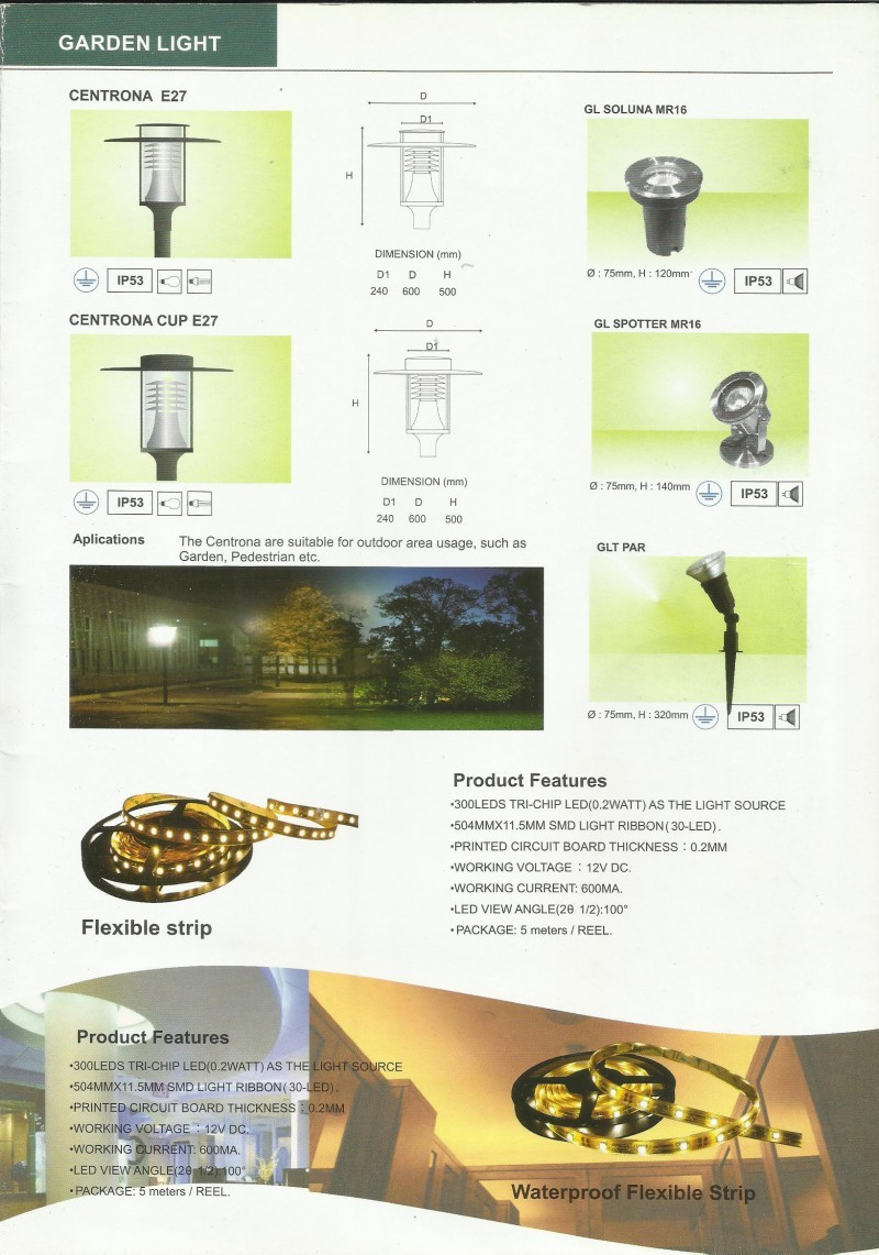 PERMATALITE CATALOGUE Garden Lamp