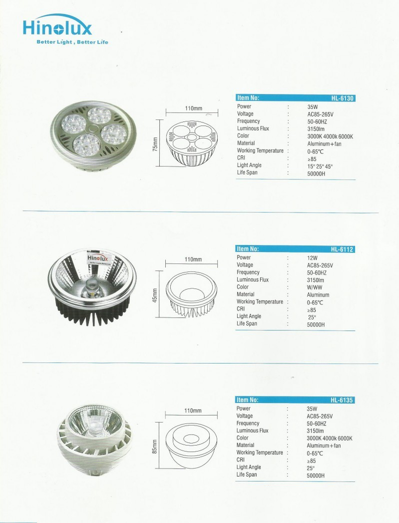 led cup light series