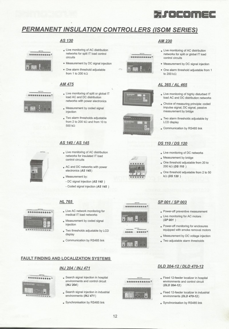 permanent insulation controllers  isom series